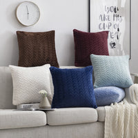Cushion Cover 45*45cm Fur Decorative Pillows Home Velvet Pillow Case For Living Room Bedroom Throw Sofa Living Room Decoration