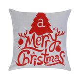 Household pillow Merry Christmas Elk Jute Pillow Covers Rustic Decorative Pillowcase Cushion Cover Decoration for Home