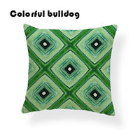 Cactus Zigzag Bear Cushion Cover Geometry Diamond Stripe Pillow Case Rustic Country Couch Decorations Dakimakura 17X17 Polyester