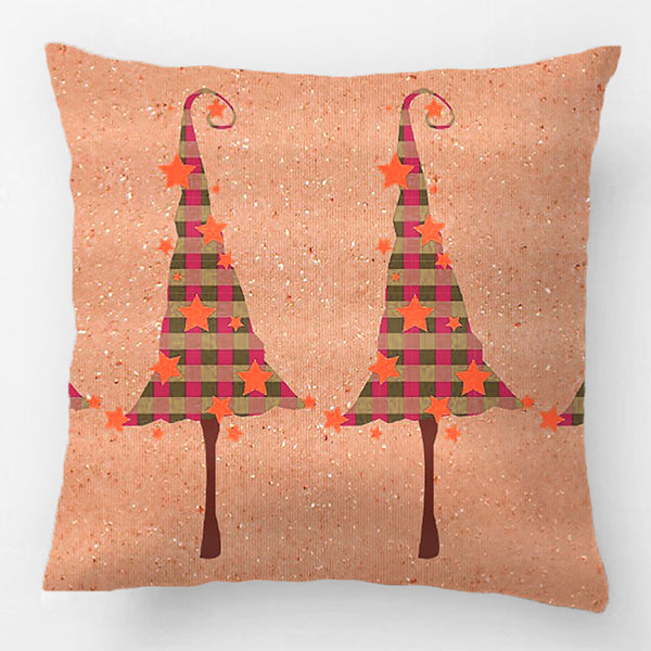 Rustic Christmas Trees Pattern Throw Pillow Case Decorative Cushion Cover Pillowcase Customize Gift By Lvsure For Car Sofa Seat