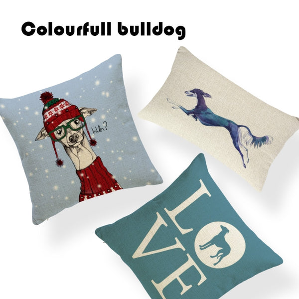Cheap Greyhound Toss Pillow Rustic Country Set Camper 18 Inch Cotton Linen Office Chair Fall Merry Christmas Throw Pillow Covers
