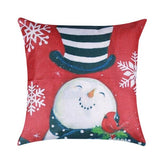 45x45cm Pillow Covers Santa Snowman Rustic Pillow Case Cover Christmas Decoration for Home Square Linen Decorative Pillowcase