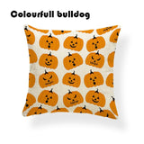Pumpkin Bat Halloween Cushion Mexican Ghost Sugar Skull Pillow Cover Red Rustic Dorm Home Decor Dakimakura Square Linen Painted