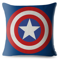 America Anime Cartoon Marvel Cushion Cover Sofa Superman Spider man Iron Man Pillow Case Decoration Avenger Pillow Cover