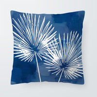 Hello Summer Palm Tree Cushions Beach Pink Blue Cover Pillow Rustic Living Room Homeware Dakimakura Large Velvet Hand Painted