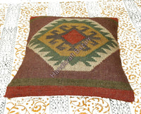 10 Pieces Cushion Cover Kilim Wool Sofa Pillowcase Rustic Handmade Back Cushion