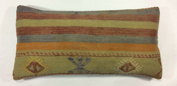 12x24 Kilim Pillow Cover Turkish Handmade Vintage Tribal Decorative Cushion 1153