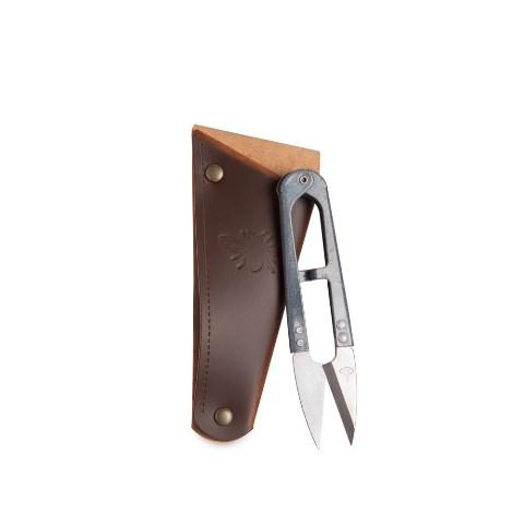 Herb/Flower Snips with recycled Leather Pouch A Little Seedy