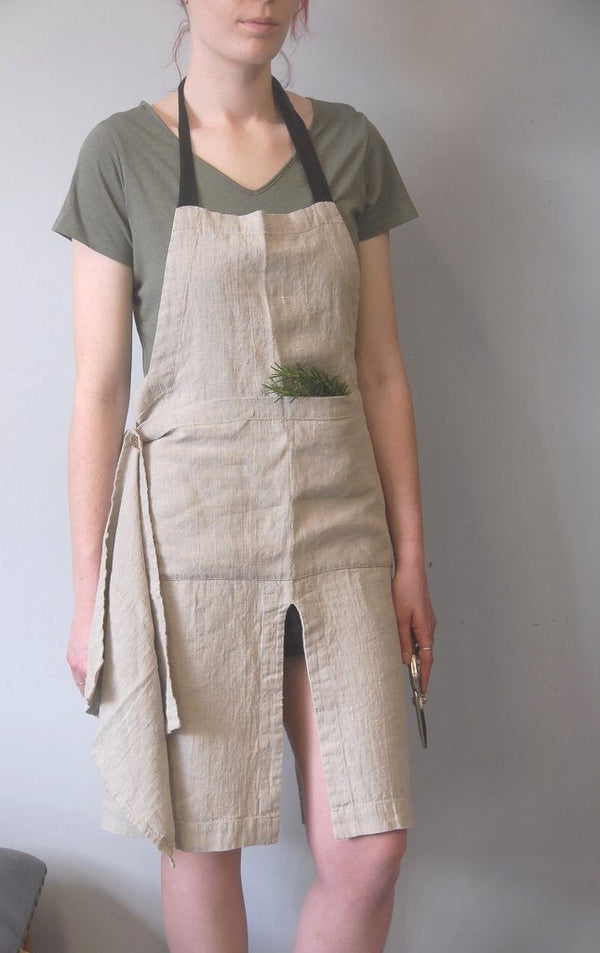 Premium Linen Garden Apron with hand towel A Little Seedy