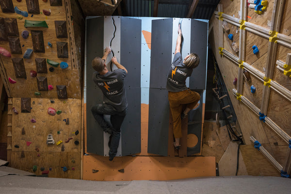 Two climbers on a home gym Crax Volume by JamWalls