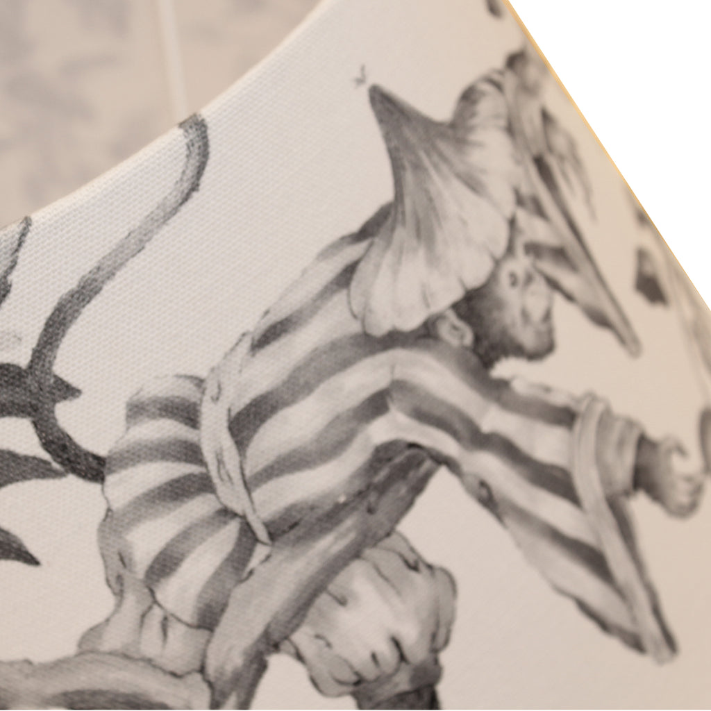 Monkey black & white lampshade