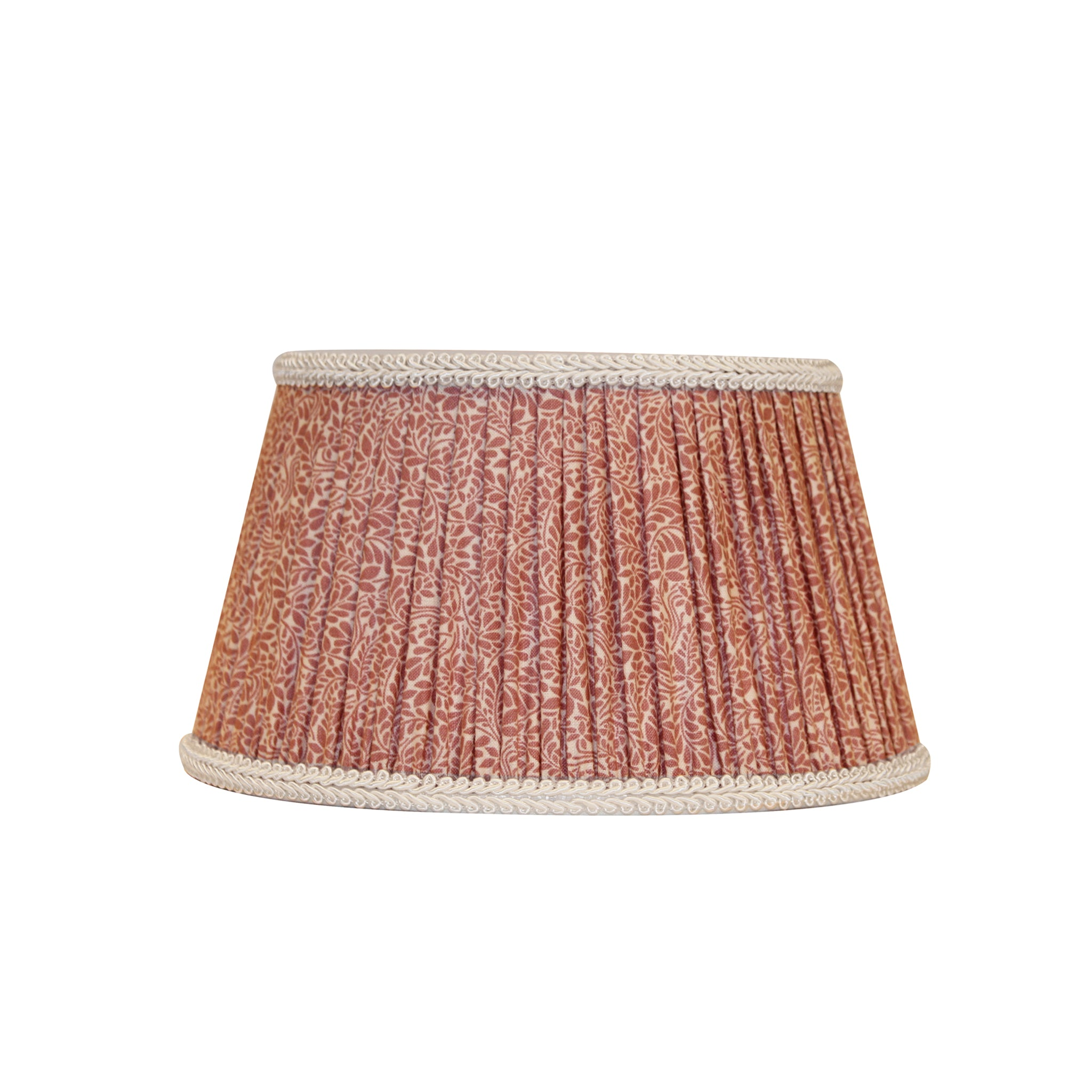 Pleated pink lampshade