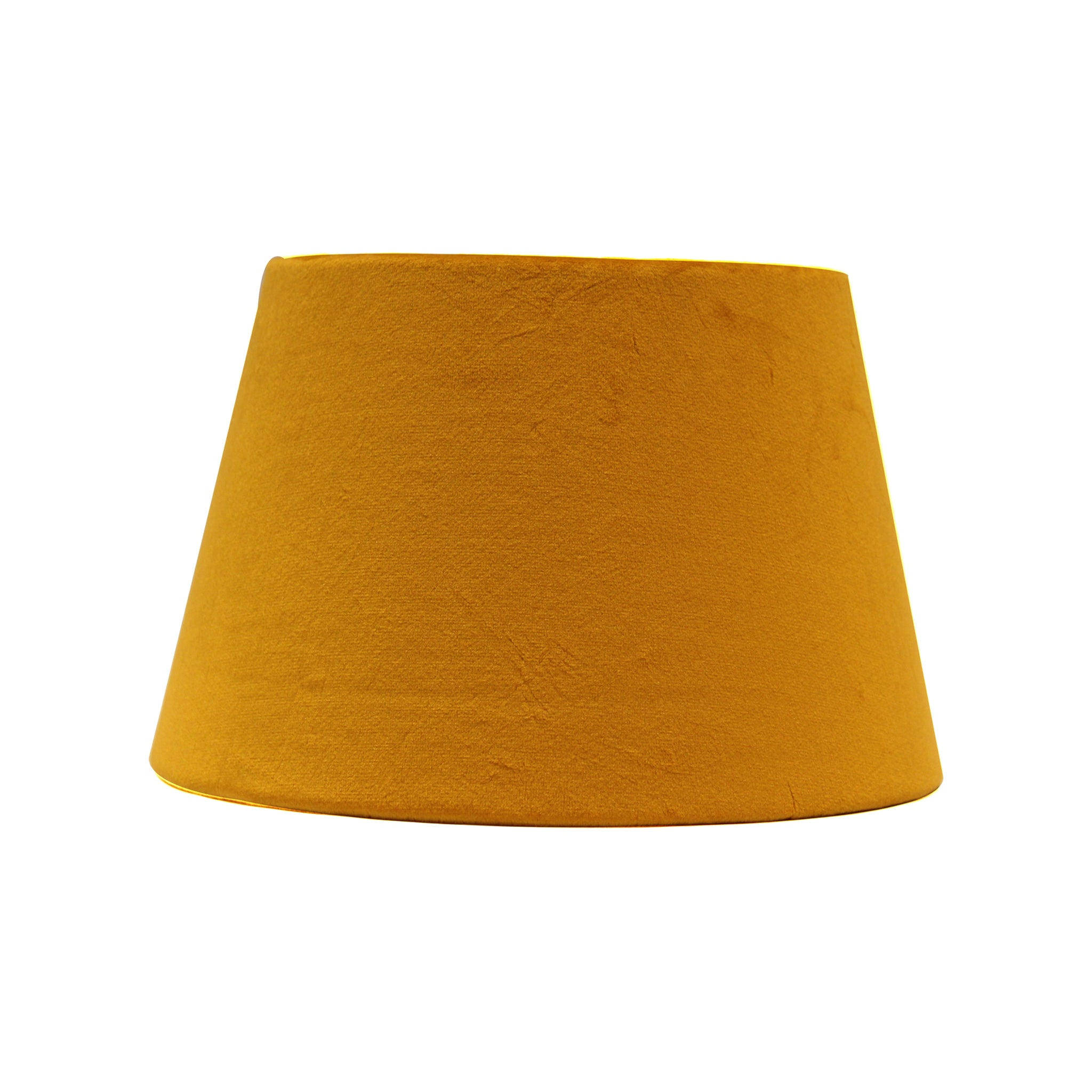 Yellow velvet lampshade