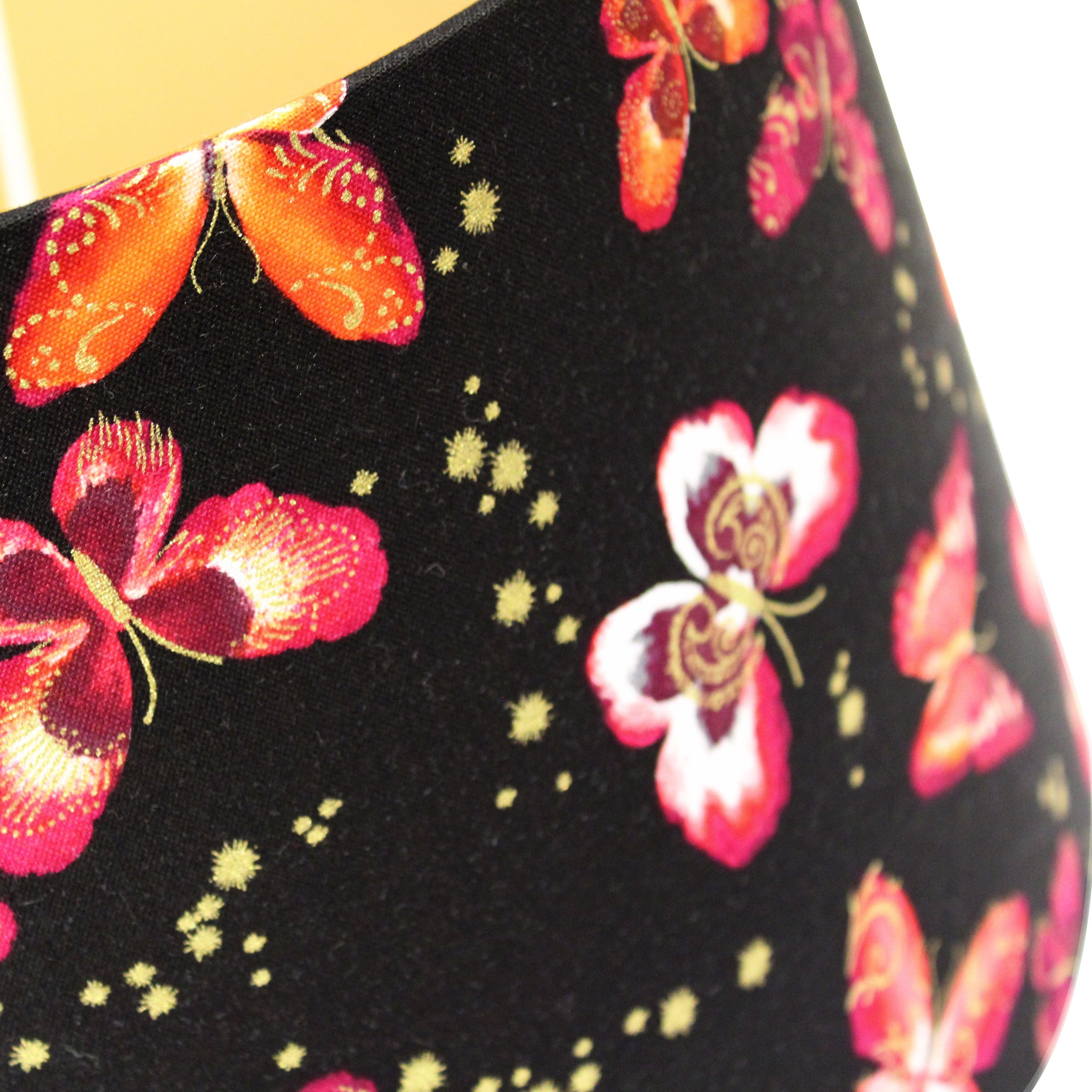 Black butterfly- Gold interior lampshade