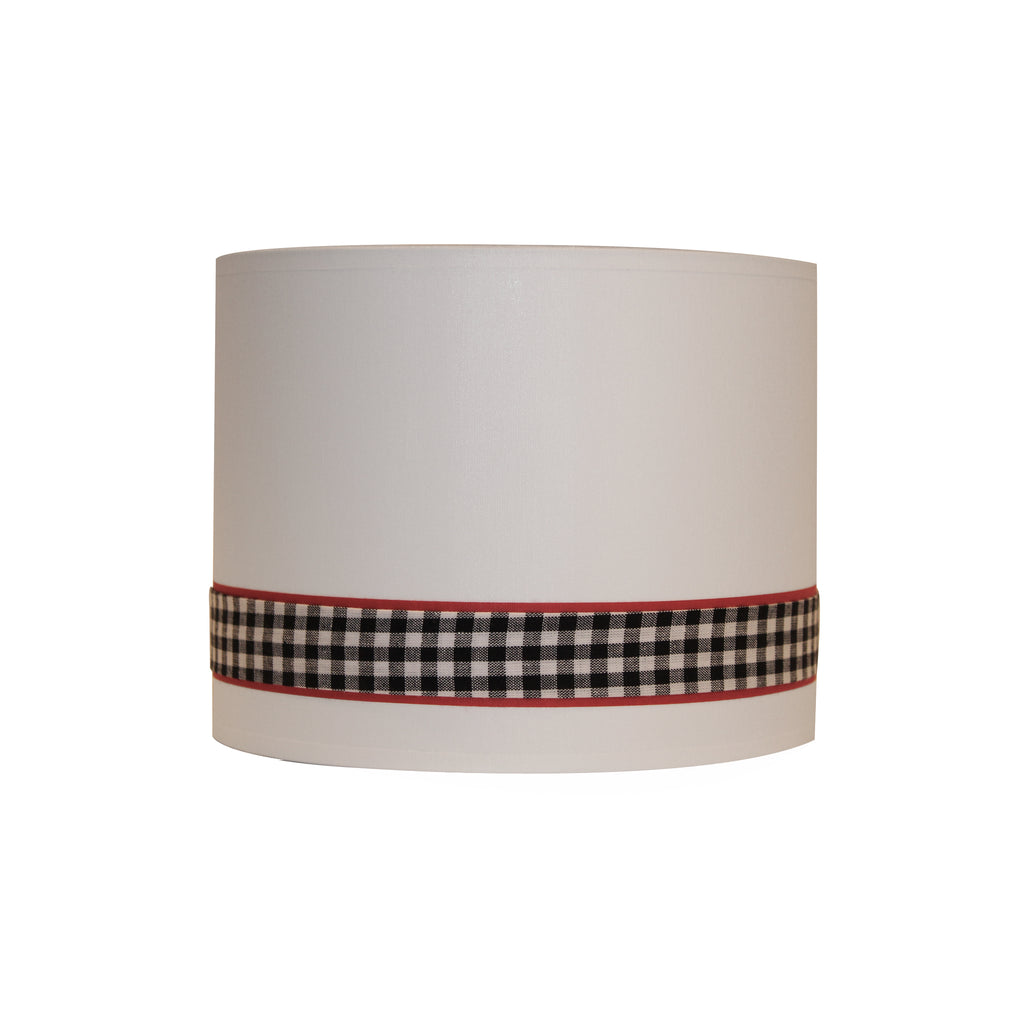 Blk & white checkers stripe lampshade