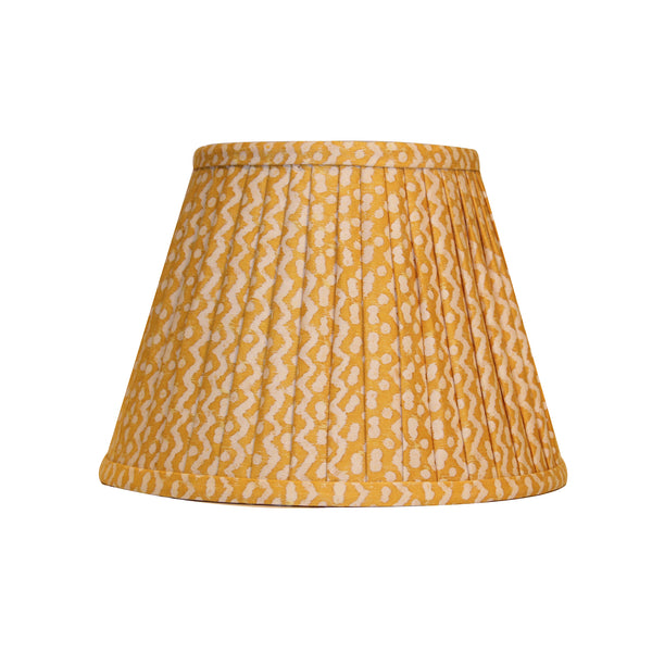 Fortuny yellow pleated lampshade