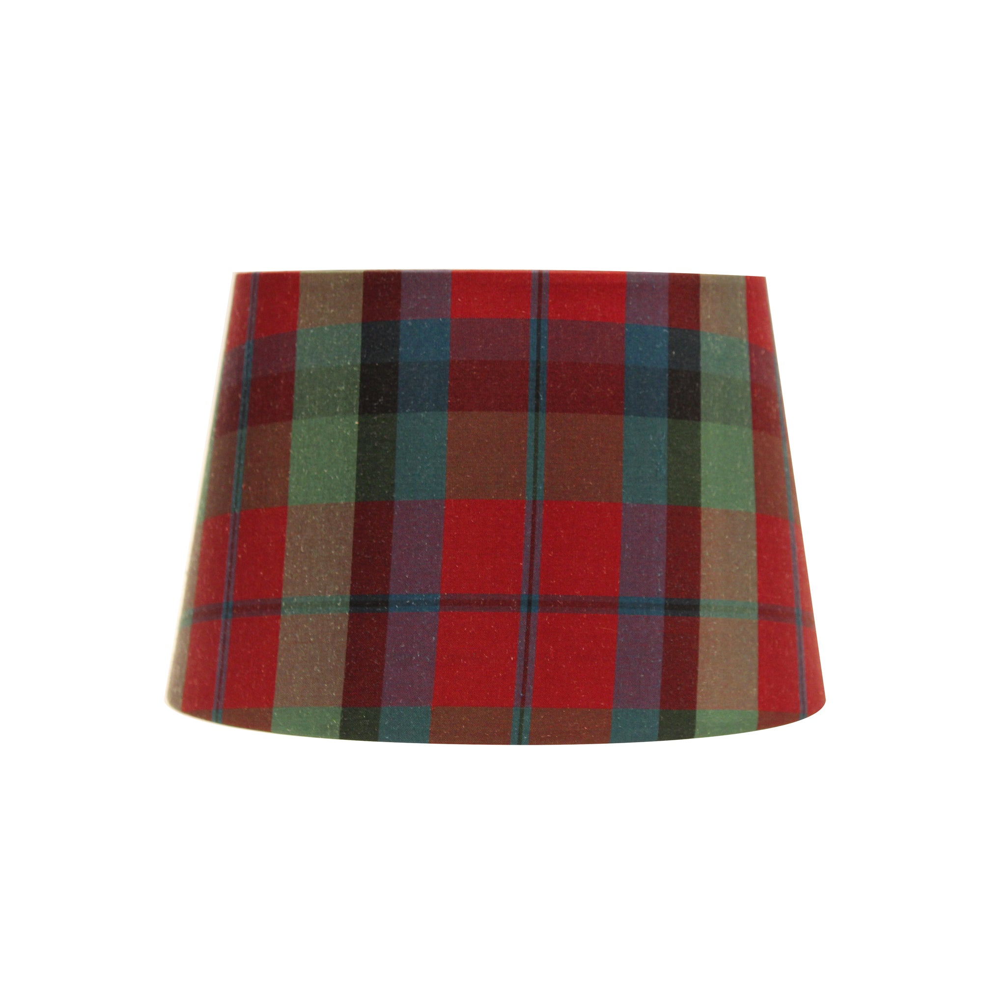 Plaid red lampshade
