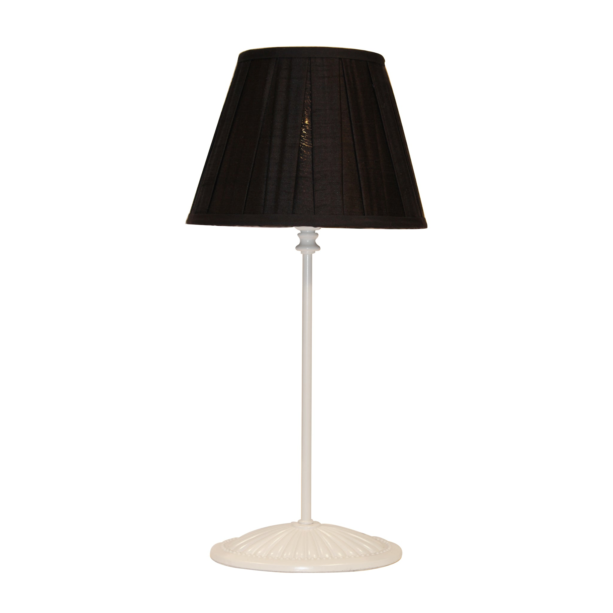 Black silk pleated lampshade