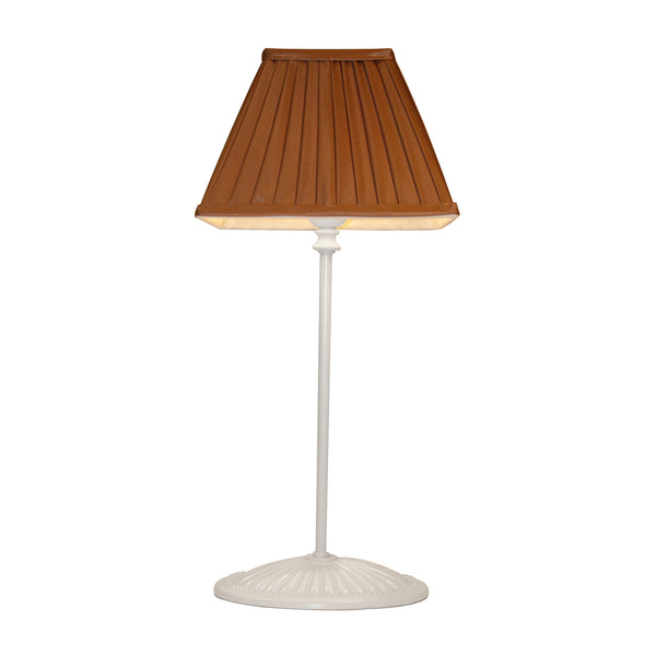 Pleated caramel lampshade