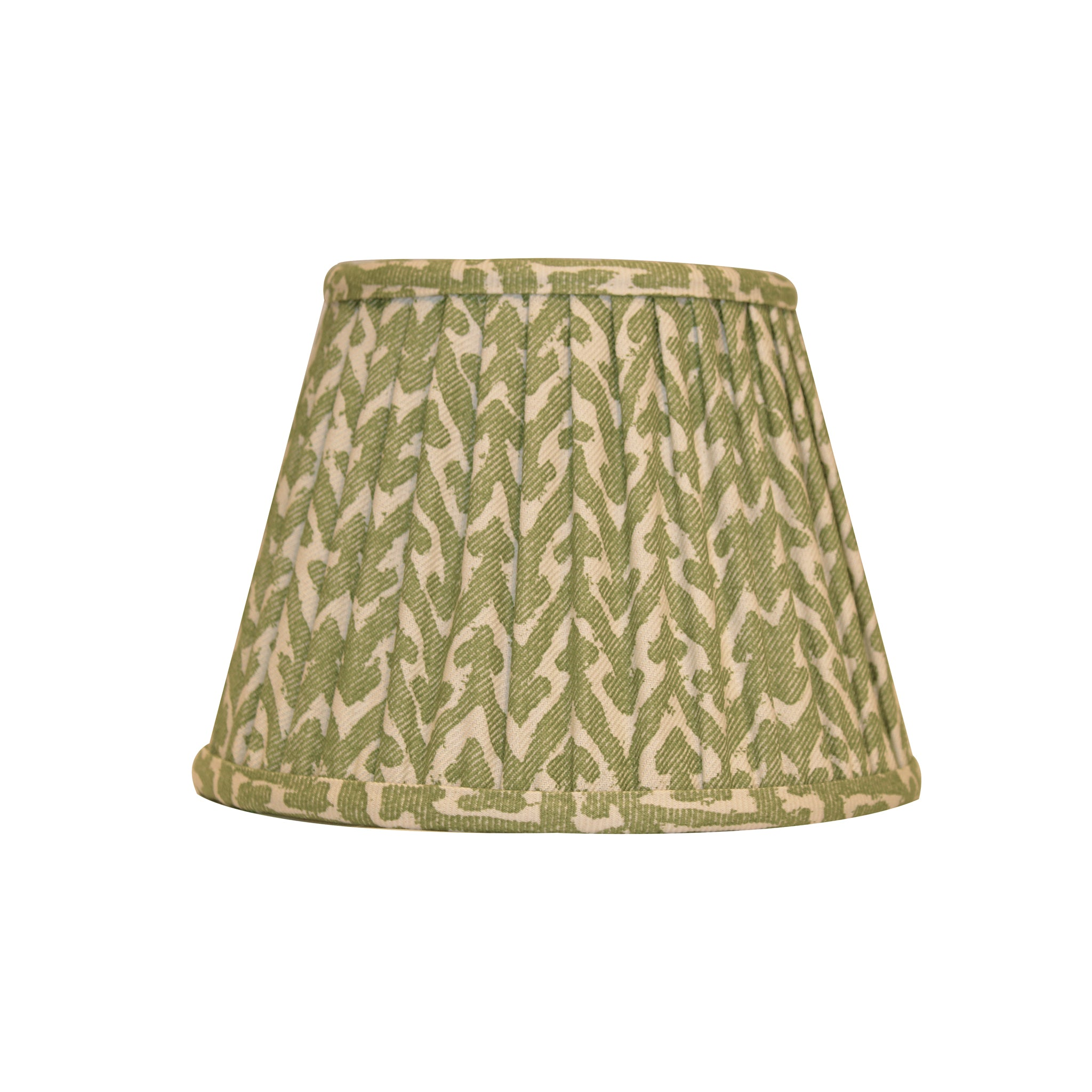 Fortuny green pleated lampshade