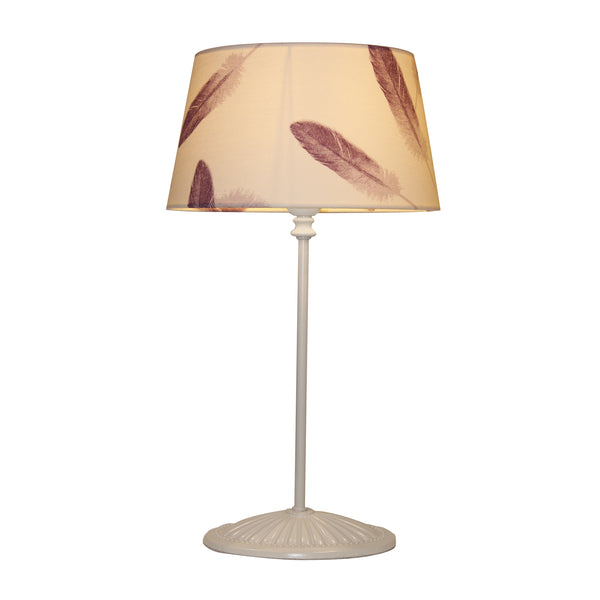 Purple feather lampshade