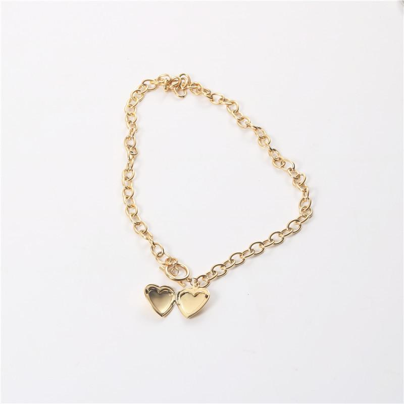 Pearl Heart  Gold Plating Necklace