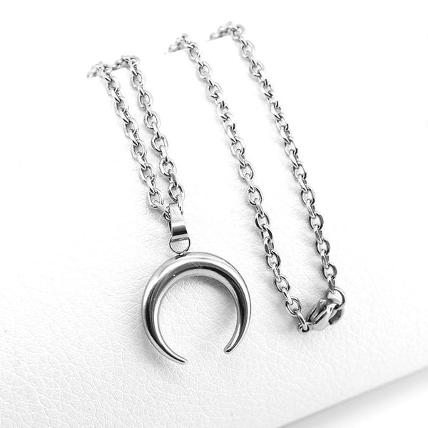 Fresh Moon Necklace Stainless Steel No Fade