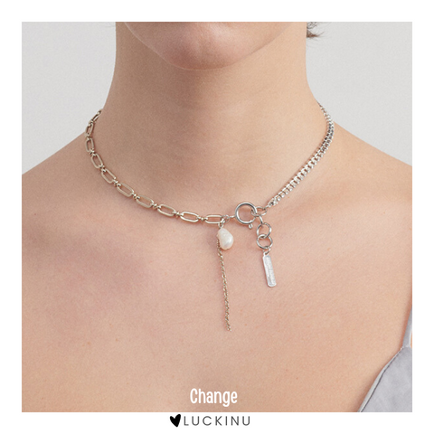 """Change"" Pearl Diamond Necklace"