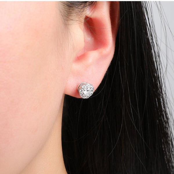 """Magic Joy"" Rotatable Sterling Silver Earring-Jewelry-luckinu"
