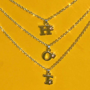 3 Layered Letter Flower Necklce custom available
