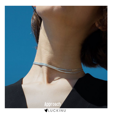 """Approach"" Gold Plating Choker Necklace"
