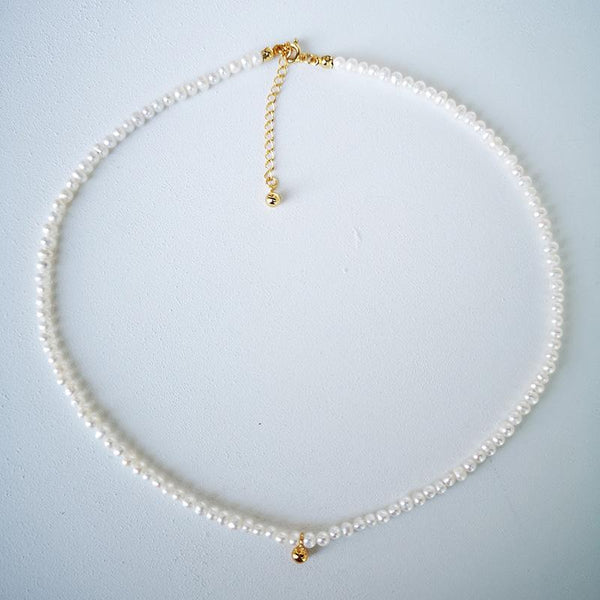 """Beauty of Nature"" Pearl Silver Necklace-Jewelry-luckinu"