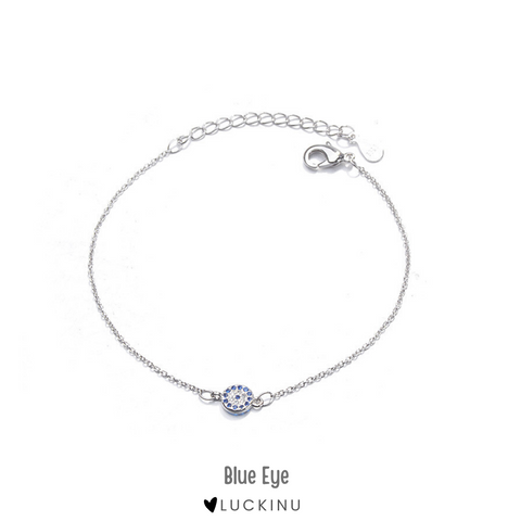 """Blue Eye"" Sterling Silver Bracelet"