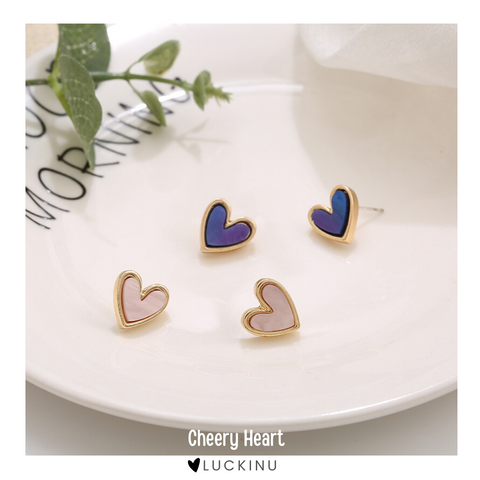 """Cheery Heart"" Cute Earring-Jewelry-luckinu"