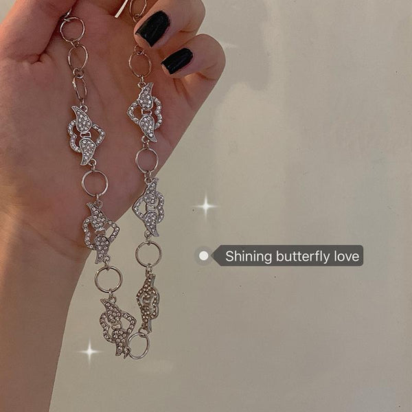 Cute Heart Wings Circle Choker Necklace