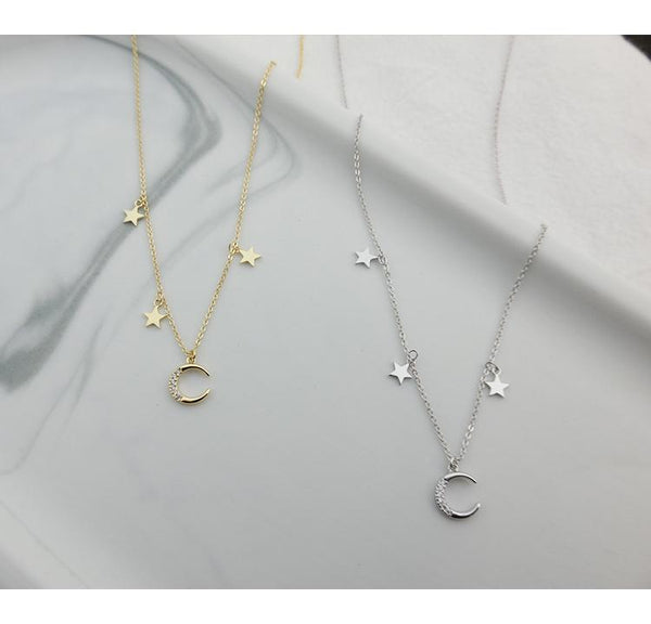 Gold Plating Silver Zircon Necklace