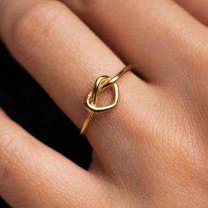 Stainless Steel Heart Open Ring