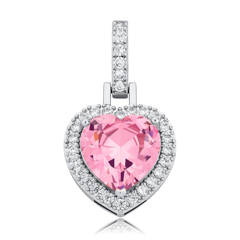 Heart Iced Out Necklace 6 Colors