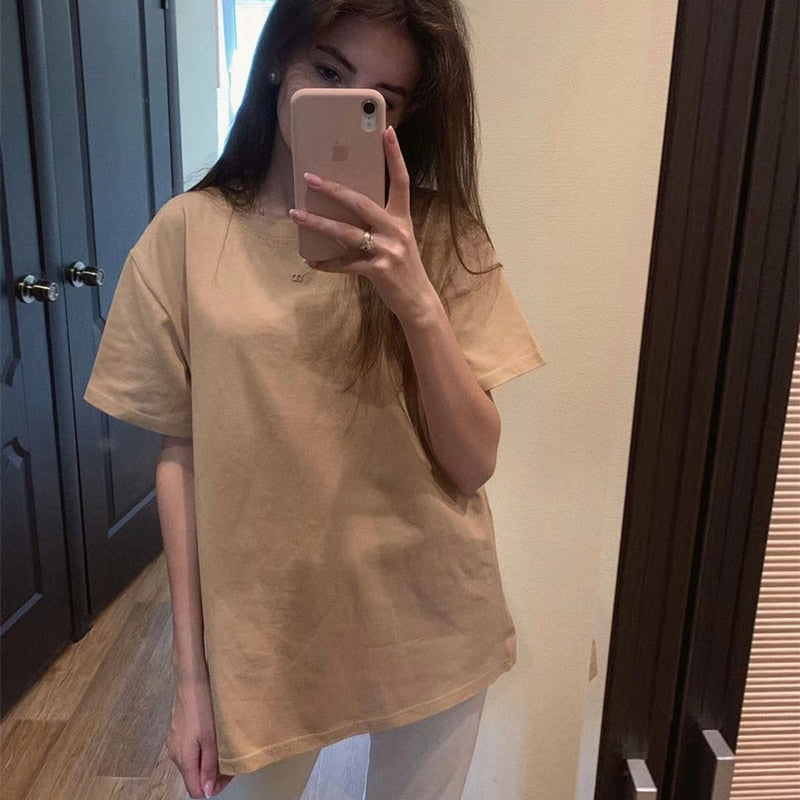 Women Casual Soft Loose Free T Shirt Summer Outfit