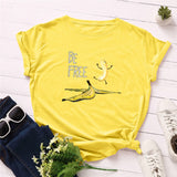 """Be Free"" Banana Cotton T Shirt"