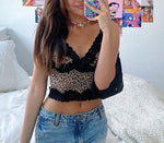 Load image into Gallery viewer, Women Sexy Sweet Leopard Black Lace Tank Top Camis Y2K Fashion Chic Stylish Top