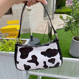 Pu Leather Cow Underarm Bag