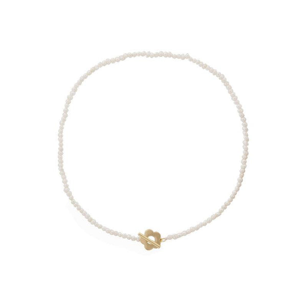 Natural Pearl Flower Choker Necklace