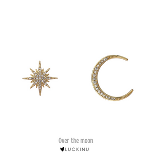 """Over the moon"" Special Earring Pair-Jewelry-luckinu"
