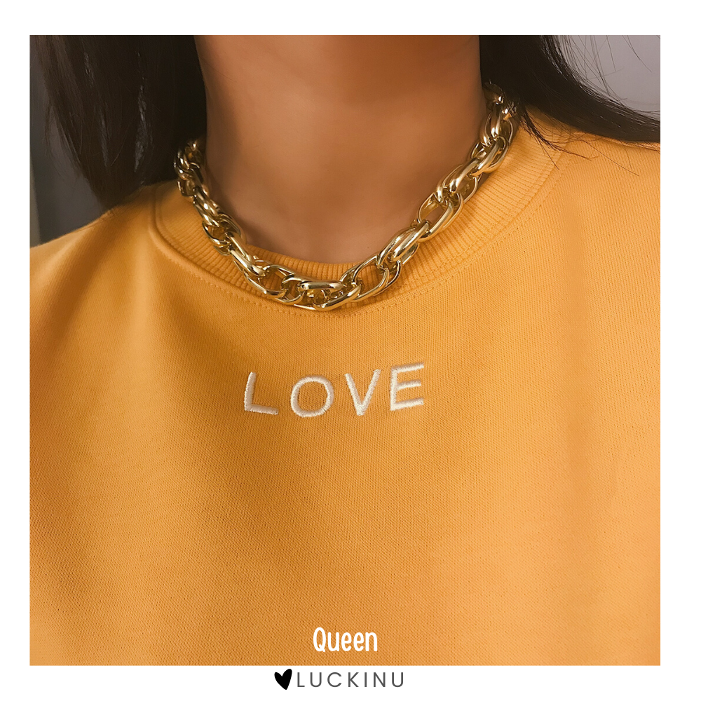 """Queen"" Twist Retro Chain Necklace-Jewelry-luckinu"
