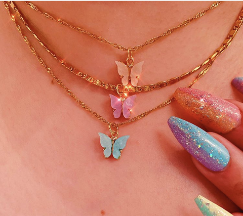 Shell Butterfly Cute Necklace