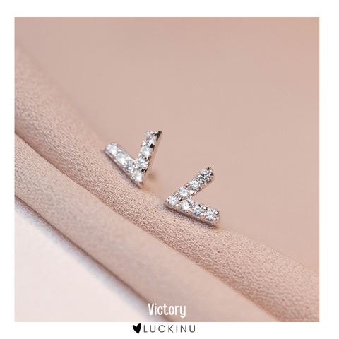 """Victory"" Sterling Silver Earring"
