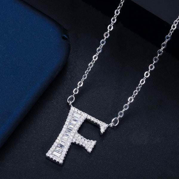 """Bling Name"" Crystal Initial Letter Necklace"