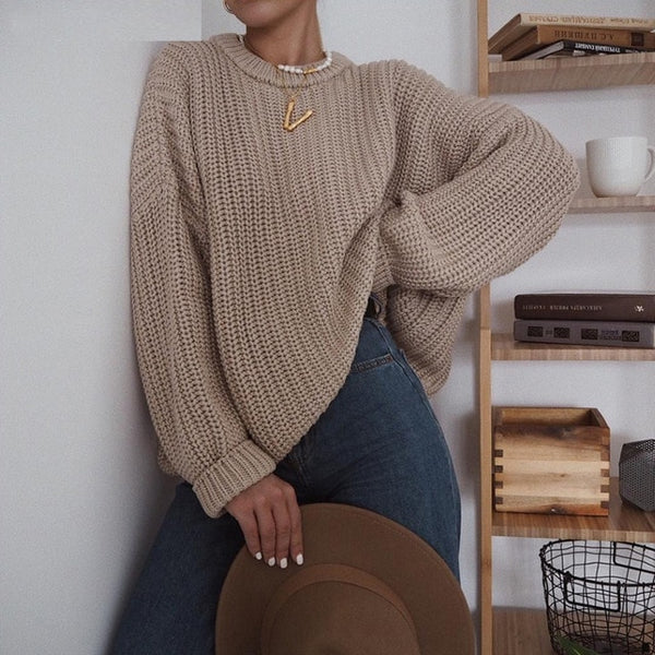 Oversize Casual Elegant Women Autumn Winter Sweater