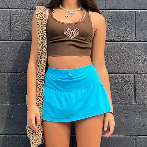Leopard Heart Tank Top